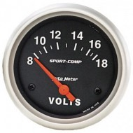 Voltmètre AUTOMETER 67MM «SPORT COMP» 8-18 volts