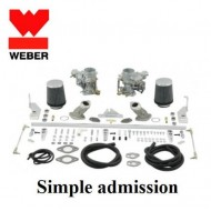 Kit double carburateurs Weber 34 ICT simple admission