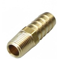 "Raccord droit M/M 1/4""npt vers durite d'huile 12mm int."