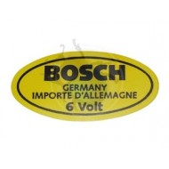 Sticker Bosch pour bobine en 6 volts