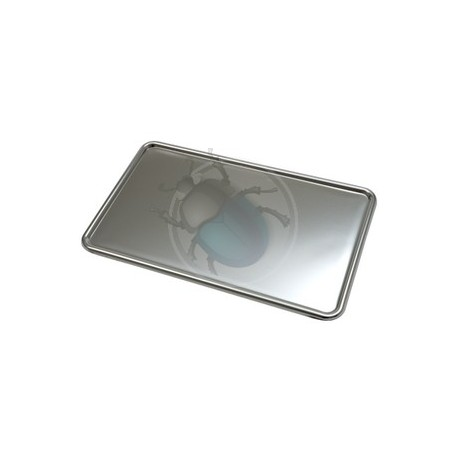 Support de plaque d'immatriculation inox 345x205mm